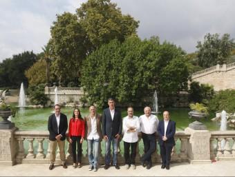 Els caps de llista el 27-S. D'esquerra a dreta, Espadaler (Unió), Arrimadas (C'S), Romeva (JxSí), Albiol (PP), Baños (CUP), Rabell (Sí que es Pot) i Iceta (PSC).