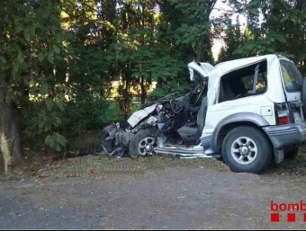 L'estat del cotxe accidentat ACN