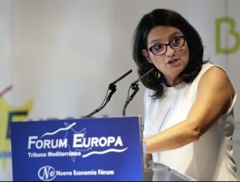 La vicepresidenta del Consell, Mónica Oltra. AGÈNCIES