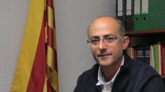 Albert Gómez, ahir, al seu despatx de l'Ajuntament de Palafrugell E.A