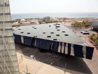 L'edifici del Fòrum a Barcelona acollirà les primers hores els refugiats arribats a Barcelona, des d'on seran avaluats i traslladats a diversos centres A.PUIG