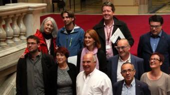 Els onze diputats de Catalunya Sí que es Pot, aquest divendres, al Parlament ACN