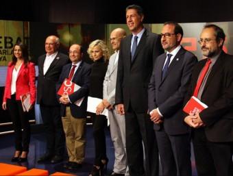Els candidats de les llistes polítiques de les eleccions catalanes a un debat de tv3.  ARXIU