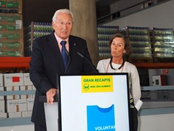 Eduard Arruga i Sabine Hindersin, ahir a la presentació del Gran Recapte EL PUNT AVUI