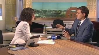El president de Cs, Albert Rivera, durant l'entrevista amb Lídia Heredia EUROPA PRESS
