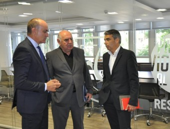Subies, Calzón i Soler, en la reunió d'ahir FCF