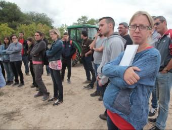Classe de maneig de tractor, a l'Escola Agrària de Tàrrega , on hi ha 60 alumnes i estan especialitzats en producció agropecuària J. FERNÀNDEZ