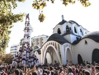 El fabulós 3 de 10 que els Minyons de Terrassa van fer ahir al parc de Sant Jordi de Terrassa MIREIA COMAS