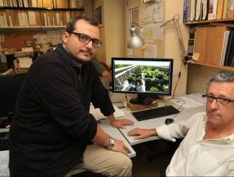 Oriol Marín i Jordi Jané, dos dels socis de l'estudi d'arquitectura Aquidos.  Foto:ANDREU PUIG