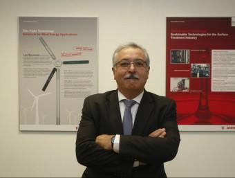 Miquel Majuelos, el director general d'Atotech, a la seu de Cerdanyola.  Foto:ORIOL DURAN