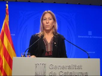 Neus Munté durant la roda de premsa posterior al consell executiu dels dimarts EP