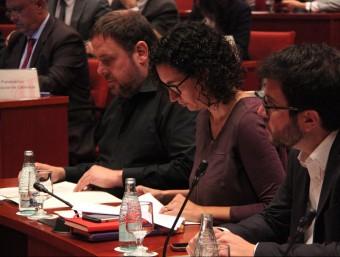 Oriol Junqueras i Marta Rovira, a la comissió permanent del Parlament durant la compareixença de Mas ACN