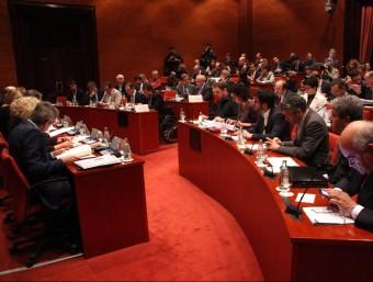 La comissió permanent del Parlament, durant la compareixença de Mas ACN