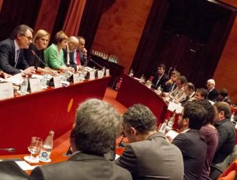 Una vista de la sala de grups, on s'ha celebrat la compareixença d'Artur Mas a la diputació permanent ALBERT SALAMÉ