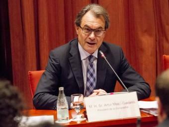 Artur Mas ahir, en la compareixença en la diputació permanent del Parlament ALBERT SALAMÉ