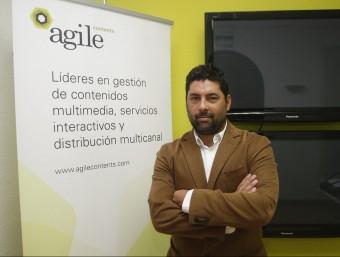 Hernán Scapusio, a la seu barcelonina d'Agile Content.  Foto:ORIOL DURAN