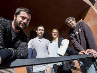 D'esquerra a dreta, Arnau Farré, Ferran Marsà, Elisabet Romeu i Mario Montes.  ALBERT SALAMÉ