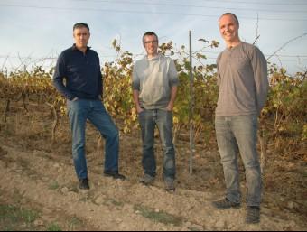 Josep Vidal, Francesc Font i Eudald Sáez, socis d'Agroassessor.  Foto:ARXIU