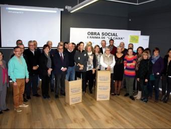 Organitzadors i voluntaris van presentar ahir al Caixafòrum Lleida la setena edició del Gran Recapte ACN