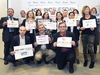 Algunes de les organitzacions sense ànim de lucre que participen en aquesta primera edició a Catalunya del #GivingTuesday nascut als Estats Units EL PUNT AVUI