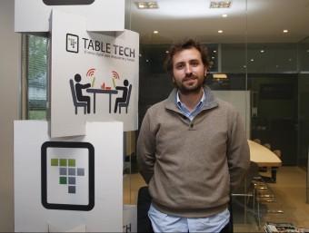 Pablo Mas-Bagà és, junt amb Alejandro i Miguel Fresneda, l'impulsor de Tabletch.  ORIOL DURAN