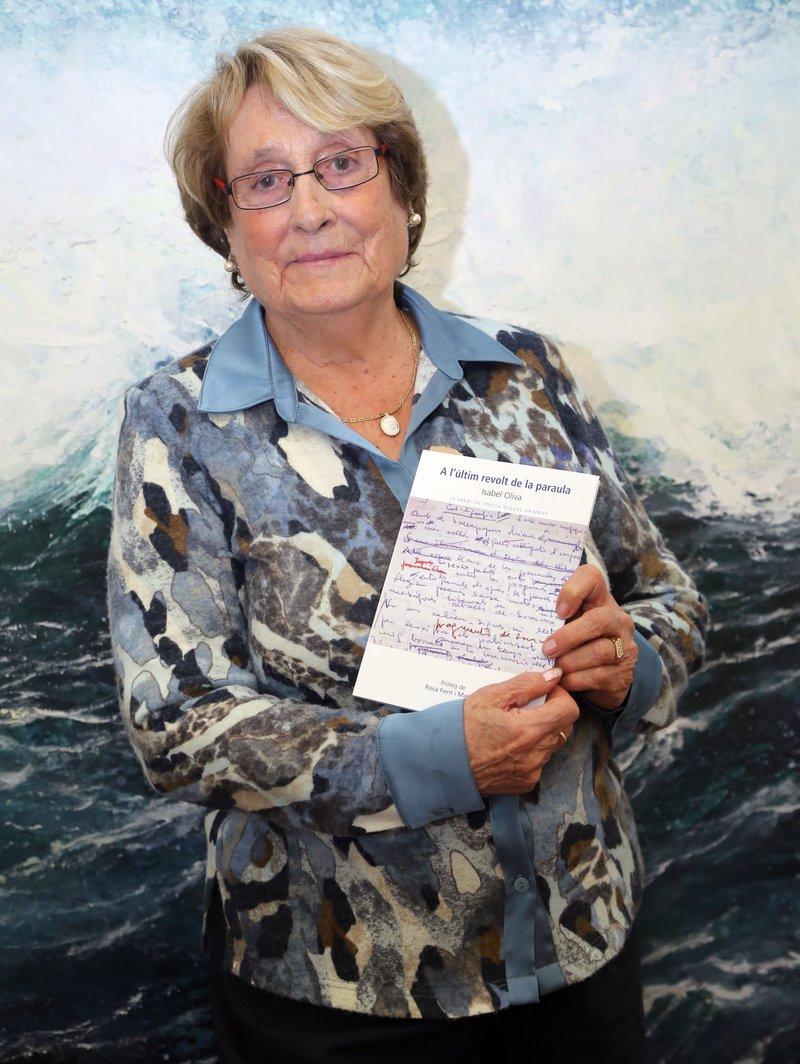 Imatge d'Isabel Oliva, el 2014 a la Fundació Valvi.