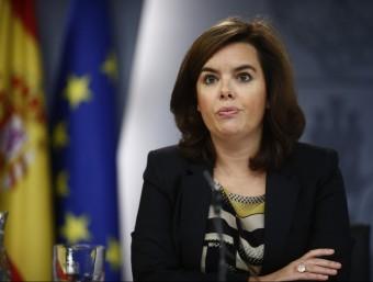La vicepresidenta, durant una roda de premsa posterior al Consell de Ministres EUROPA PRESS