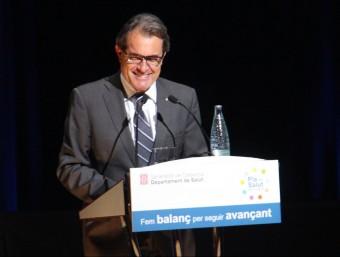 El president de la Generalitat, Artur Mas, aquest divendres a Sitges ACN