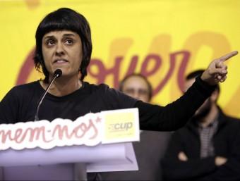 La diputada de la CUP Anna Gabriel, a la jornada de debat celebrada ahir a Manresa EFE