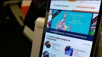L'aplicació d'Amazon Underground en un mòbil amb Android EL PUNT AVUI
