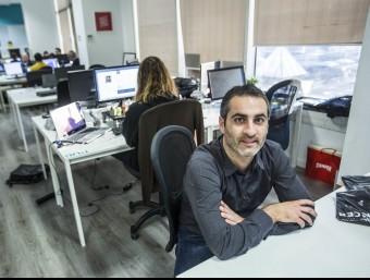 Francesc Font a la seu de la companyia de Barcelona.  JOSEP LOSADA