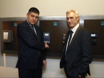 Daniel Parés, director general d'Spec i el soci Philippe Montagut, cap d'operacions d'Octime.  ORIOL DURAN