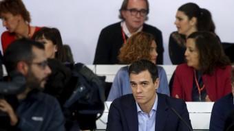 El secretari general del PSOE, Pedro Sánchez, ahir al comitè federal del PSOE REUTERS