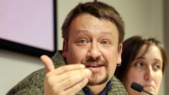 Xavier Domènech, cap de llista d'En Comú Podem en roda de premsa ANDREU PUIG