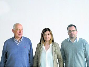 Els socis fundadors de Meypet, Andreu Serra, Cristina Castañé i Pere Mestre.  Foto:L'ECONÒMIC