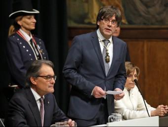 Puigdemont, durant l'acte d'investidura JUANMA RAMOS