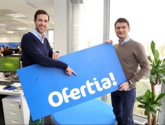 Thomas Roggendorf i Jaume Betrian són les ànimes d'Ofertia.  Foto:ANDREU PUIG