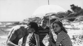 Henri Serre, Oskar Werner i Jeanne Moreau  ARXIU