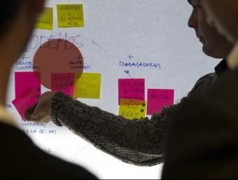 Participants en un taller organitzat per Inusual.  Foto:ARXIU
