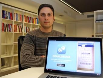Alfonso Mérida va idear Scanlotería com un projecte de fi de carrera.  Foto:JUANMA RAMOS