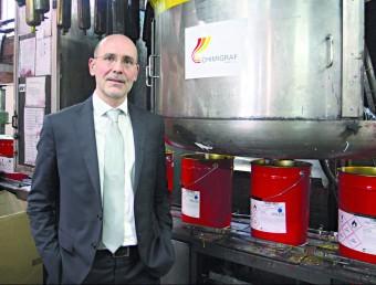 Armand Marcé és el director general de Chimigraf.  FRANCESC MUÑOZ