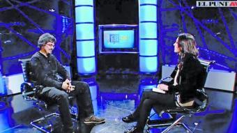 Ramon Térmens during the interview on El Punt Avui TV.