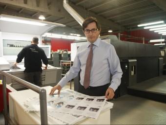 Jaume Gàzquez, conseller delegat-director general de Serafí Indústria Gràfica Publicitària de Terrassa.  Foto:ORIOL DURAN