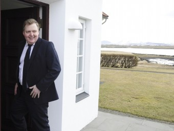 Sigmundur David Gunnlaugsson, primer ministre islandès, ahir a la residència presidencial reuters