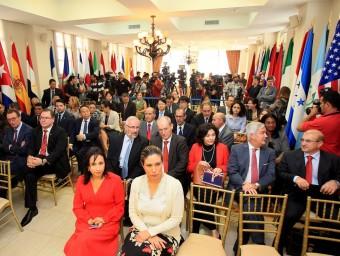 Reunió d'ambaixadors  acreditats a Panamà, ahir al ministeri d'Afers Estrangers panameny a. B. / efe