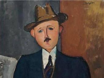 L'obra 'L'home assegut amb un bastó', d'Amedeo Modigliani