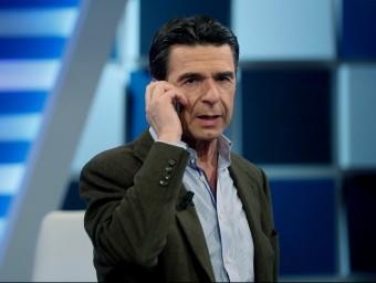 José Manuel Soria, aquest divendres a la nit a les instal·lacions de 13 TV EFE