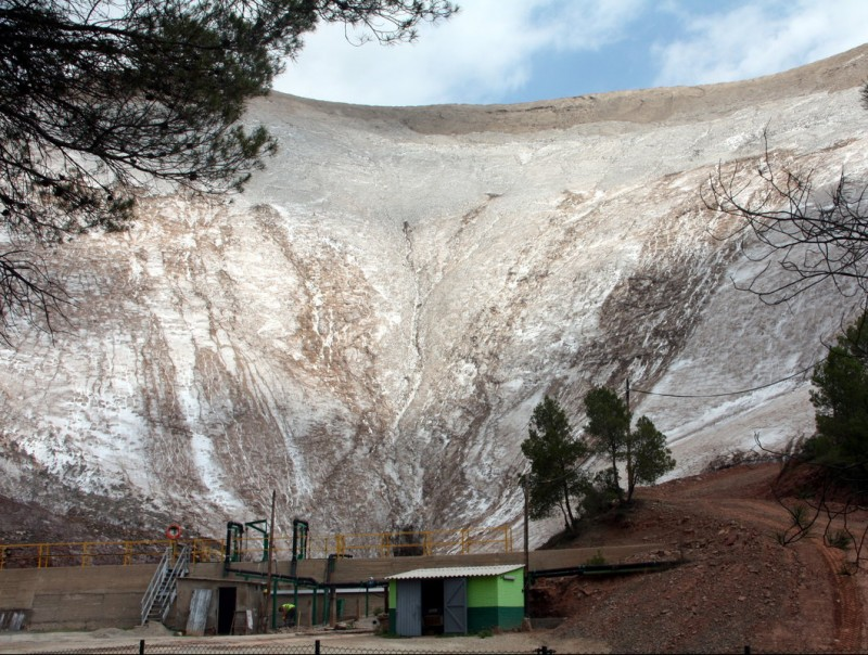 Muntanya de runam salí de l'empresa minera Iberpotash a Sallent, al Bages, en una imatge d'arxiu.  Foto:ACN