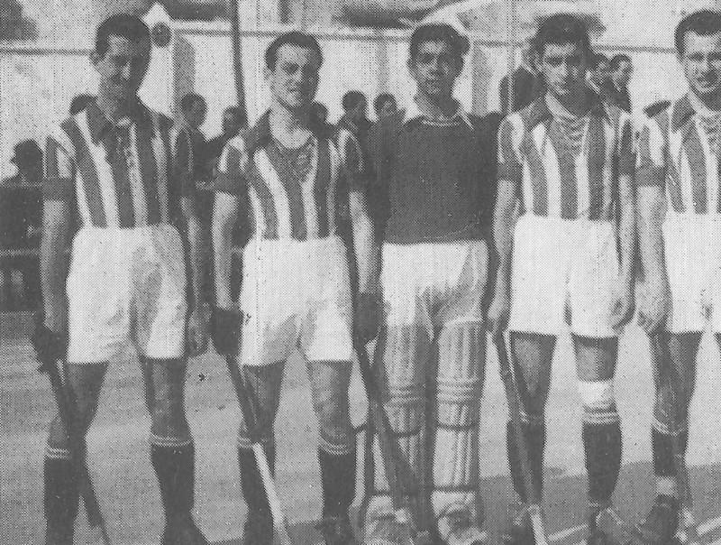 Un dels primers equips del Girona CH els anys quaranta.  GCH / Q.P. / LL.S