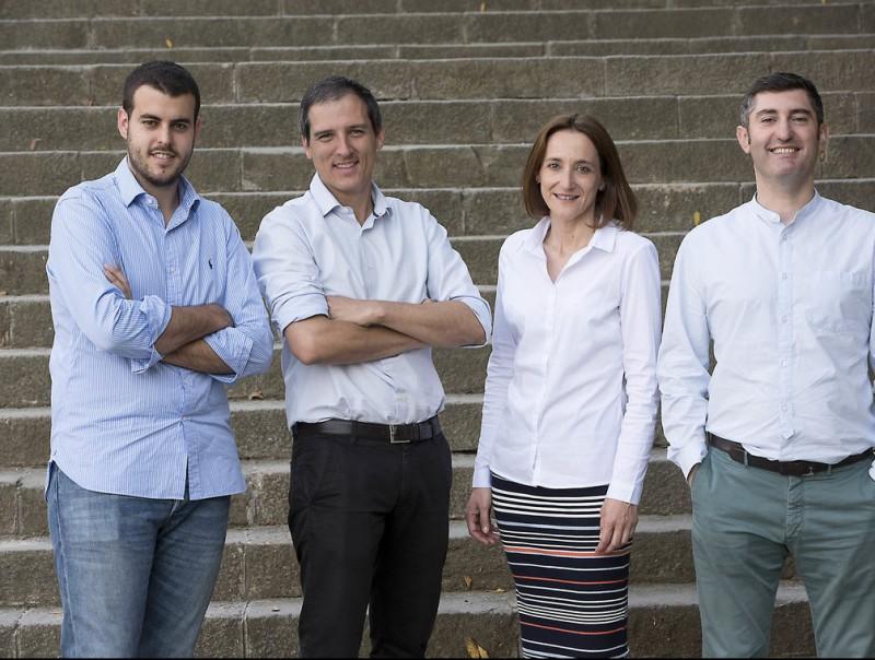 Sergio González (esq.), Daniel Borrell, Mónica Comalrena i David Rodríguez, executius de CornerJob.  J. L